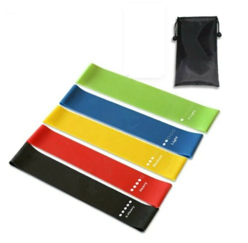 Resistance Bands Loop 6Pcs Home Workout Exercise Yoga Fitness Glute Training Gym