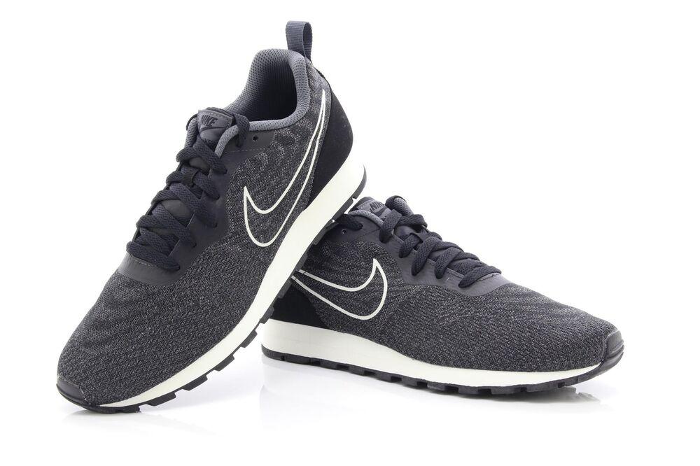 Nike MD pour Homme Runner 2 Eng Mesh Noir Gris Foncé 916774 002 Baskets-