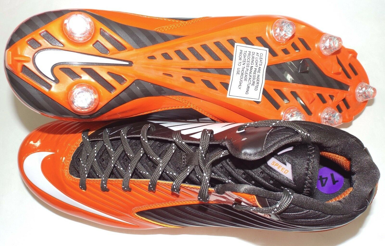 New Mens 14 NIKE Vapor Speed Clevland Browns Browns Browns Cleats shoes  105 668853-208 2c2cbf