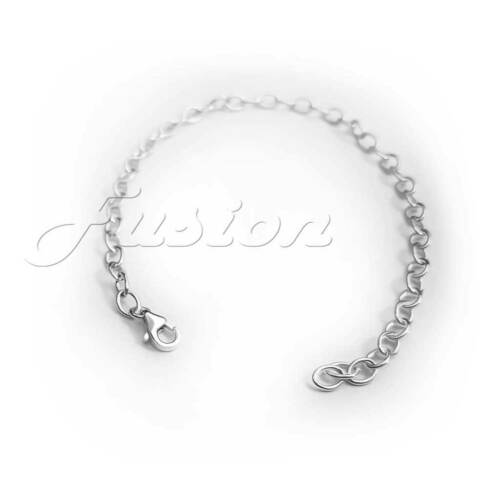 .925 Sterling Silver UNIVERSAL SIZE Bracelet Adjustable Strong Trace Charm Chain