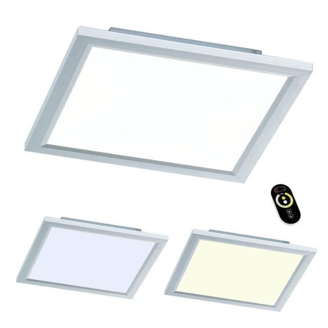 Wofi LED Panel Liv, 30 x 30 x 5,5 cm, Dimmbar mit Fernbedienung, 24W Lampe