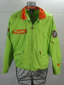 Vintage-Starter-Flip-Side-Flipside-Bowling-Themed-Embroidered-Light-Jacket-M