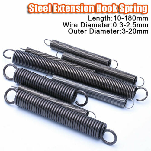 Verlängerung Haken Feder Alle 0,3-2,5mm Stahl Spannung Erweiterung Komprimiert