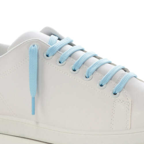 9MM FLAT TRAINER SHOE LACES 1 PAIR STRONG SNEAKER SPORTS /& BOOT LACES 35 COLOURS