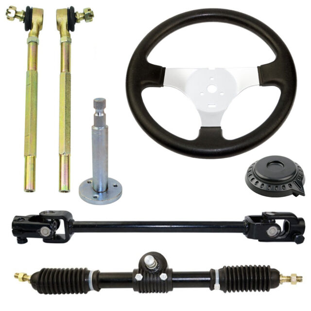 110cc Go Kart Steering Wheel Embly Set Tie Rod Rack Adjule Shaft For Online Ebay