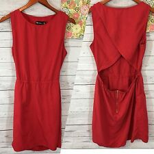 Urban Outfitters By Corpus Red Women's L Red Sundress Open Back Dress