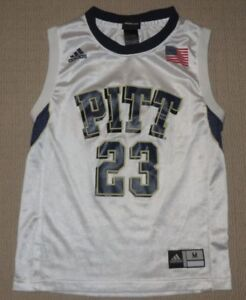 huge selection of 5808c b7cc6 Details about NCAA Pittsburgh PITT Panthers Basketball #23 Jersey Youth  Medium 10-12 Adidas