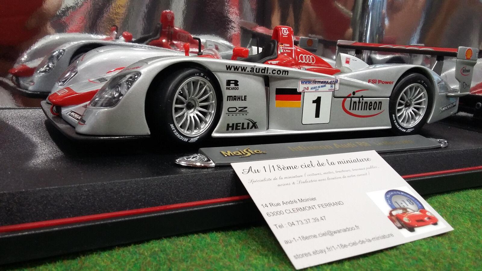 AUDI R8 R8 R8 INFINEON LE MANS 2002   1 1 18 MAISTO 38659 voiture miniature collection 2a208c