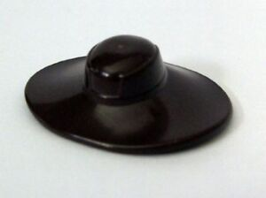 LEGO-STAR-WARS-Minifig-Headgear-Hat-Very-Wide-Brim-Cad-Bane-Dark-Brown