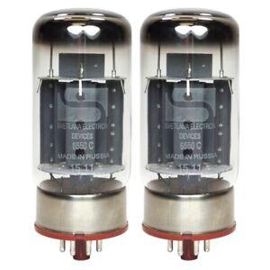 Brand New Current Matched Pair Svetlana 6550 / 6550C (KT88) Reissue Vacuum Tube