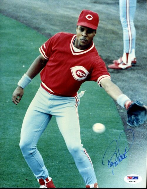BARRY LARKIN PSA/DNA SIGNED 1/1 ORIGINAL IMAGE 8X10 PHOTO AUTOGRAPH