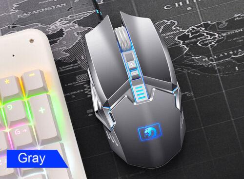 2400DPI Mouse Wired 87 Keys LED Backlit Usb Mechanical Metal Gaming Keyboard