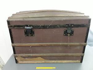 ancienne Malle en bois cle serrure coffre french antique   eBay
