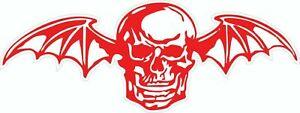 Avenged Sevenfold Deathbat red logo full color car Vinyl Sticker Decal