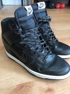 Women's White Hidden Shoes Nike Heel 7 Wedge Sneakers Size Black b7Igfyv6Ym