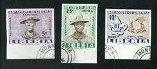 Scouts / Scautismo : Liberia  1961 - 3 valori non dentellati - usati