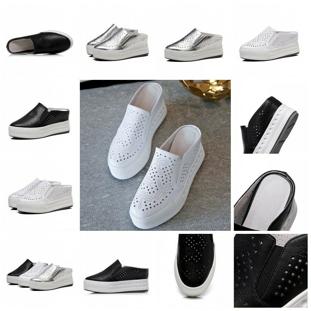 Womens Slip On Platform Wedge Summer Mules Mules Mules Slippers shoes Sneaker Sport Sandals c56b8e