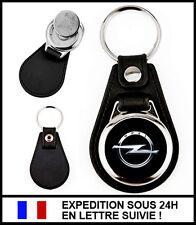 Porte-clé automobile OPEL simili-cuir métal + jeton caddie - Keychain Keyring