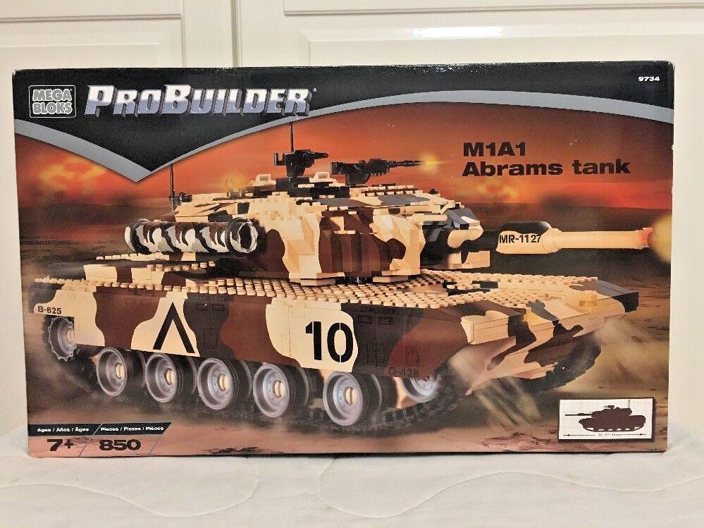 Mega Bloks Probuilder M1A1 Abrams Tanque Set 9734 bloques de construcción 2002