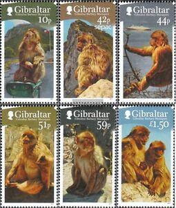Gibraltar 1437-1442 Mint Never Hinged Mnh 2011 Berberaffen Stamps