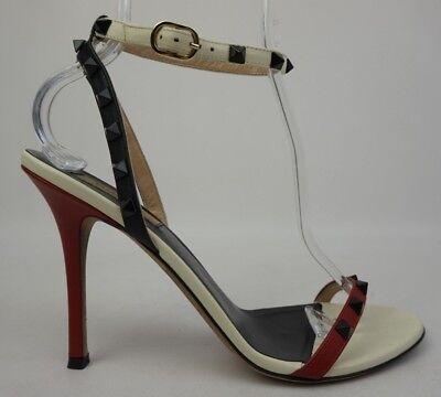 Prezzo Basso Valentino Rockstud Rosso Blu Bianco Cinturino Alla Caviglia In Pelle Donna Le Materie Prime Sono Disponibili Senza Restrizioni