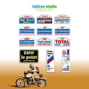 Adesivi-Rallye-Paris-Dakar-Algeri-moto-custom-stickers-pegatinas-VSD-Pioneer-BMW