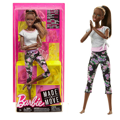 African American doll Barbie Made to Move Series