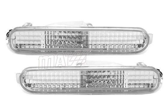2DR COUPE DIAMOND CLEAR REAR/SIDE BUMPER PAIR SET LIGHTS FOR ACURA LEGEND 91-95