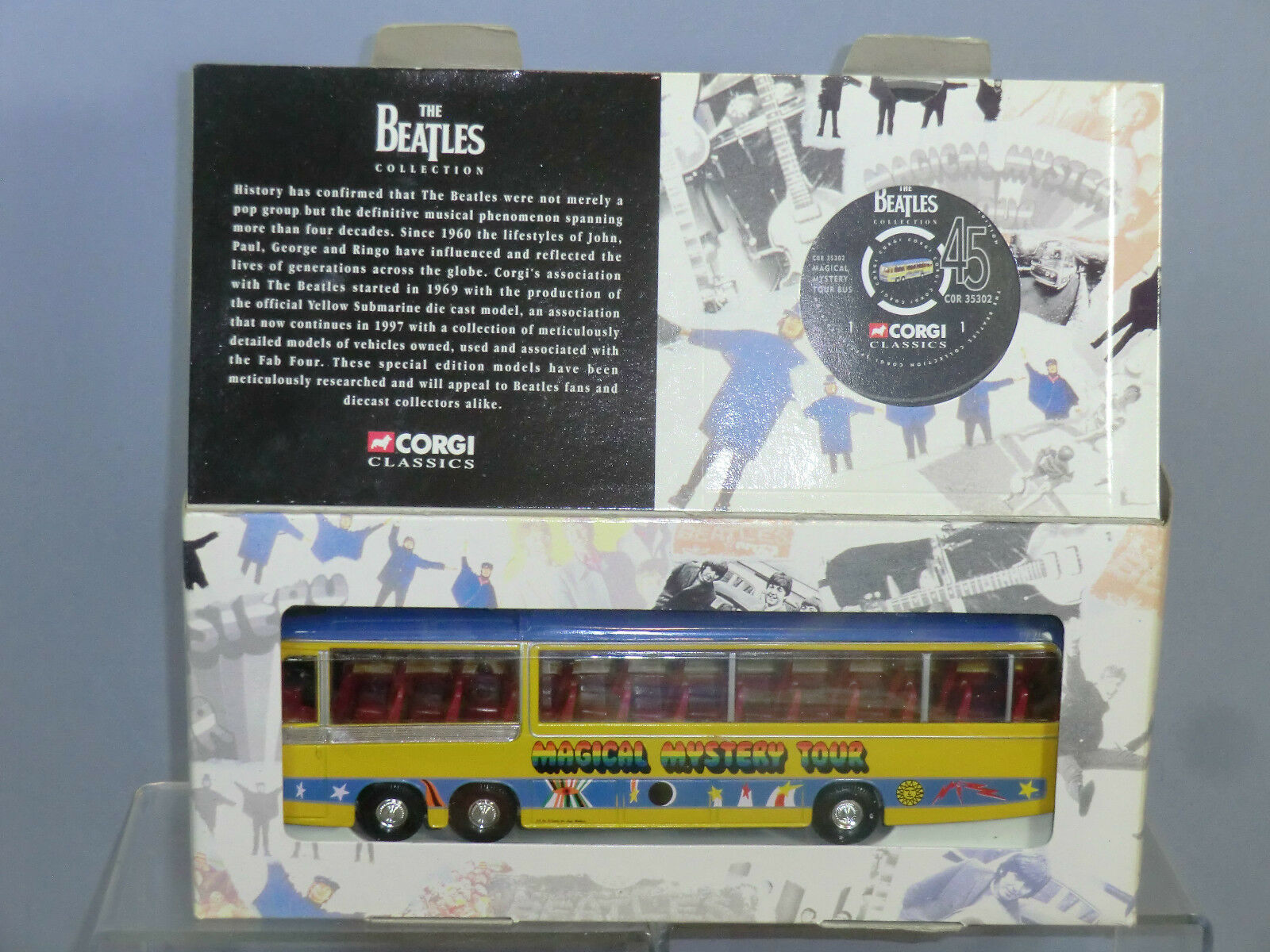 Corgi spielzeug - modell no.35302  beatles  -  magical mystery tour - bus  mib