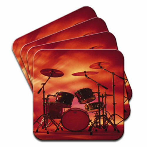 Rocking Rock Band Drum Set with Cymbals  Set of 4 Coasters