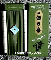 Morning Star Green Tea Incense 2 X 200 Stick, 400 Japanese Incense Nippon Kodo
