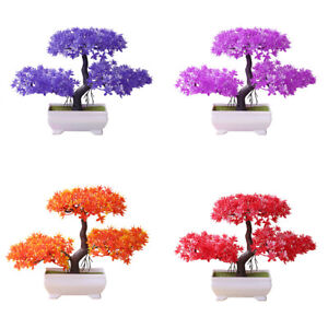 Artificial Bonsai Tree Plant Pine Simulation Potted Plant Ornament Home Decor Ebay