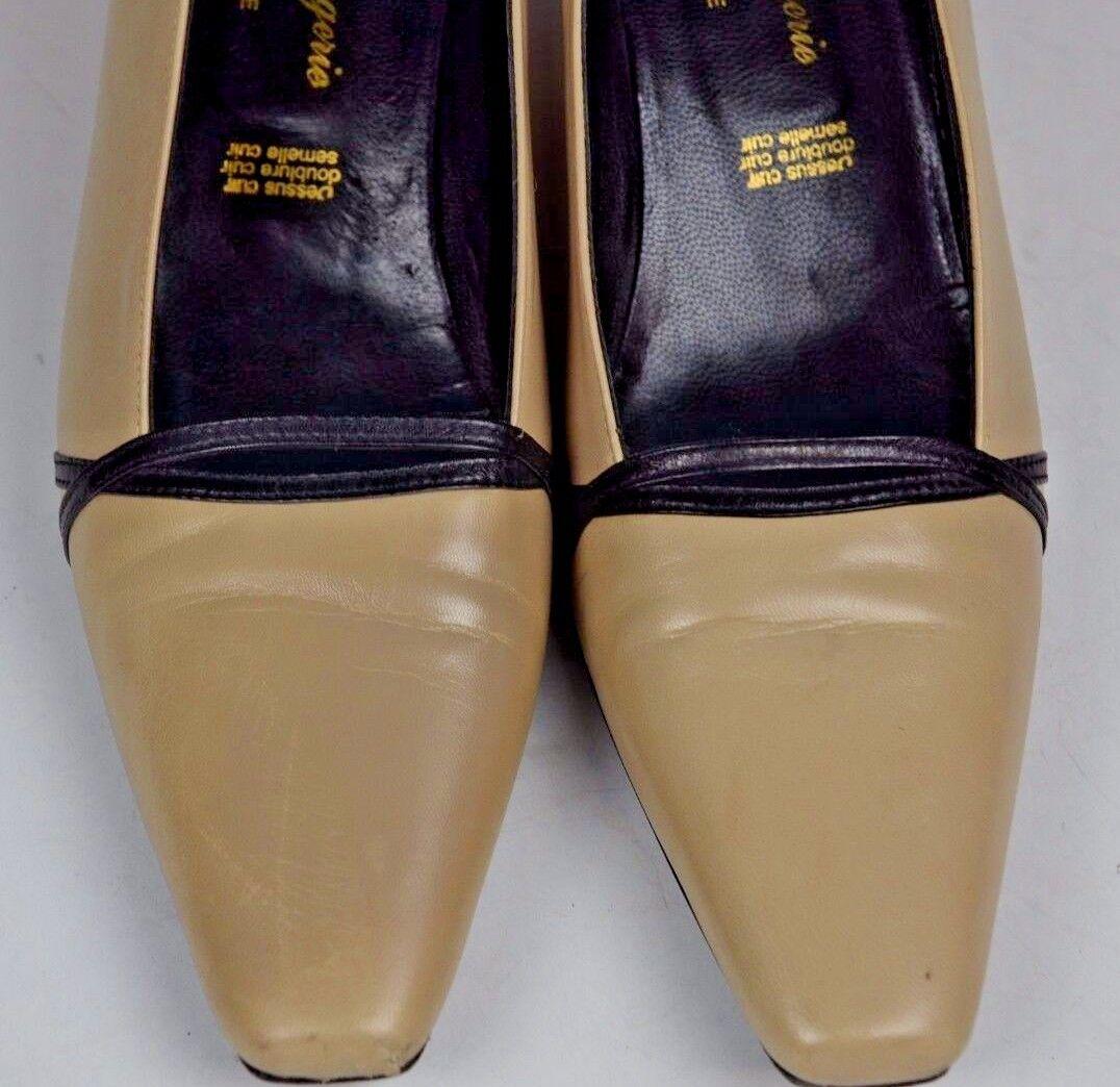 nuovo di marca Robert Clergerie Donna  Tan colored Pumps Pumps Pumps Dimensione 6.5 France Career Pointed Toe  in vendita scontato del 70%