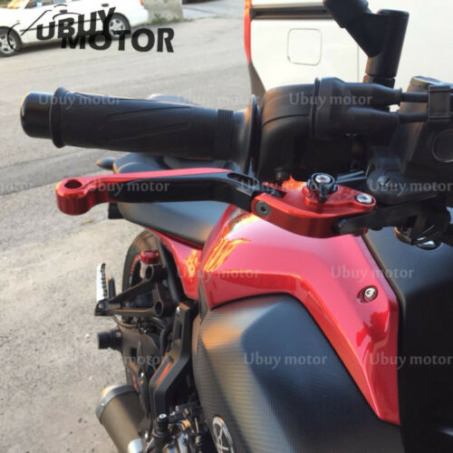 Adjustable Pivoting Levers with Grips For Kawasaki ZX636R ZX6RR 2005-2006 red