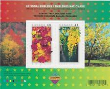Canada 2003 Souvenir Sheet #2001b National Emblems (Canada - Thailand) MNH