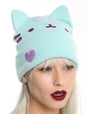 Pusheen Facebook Character Mint Watchman Beanie Knit Hat Gift New With Tags