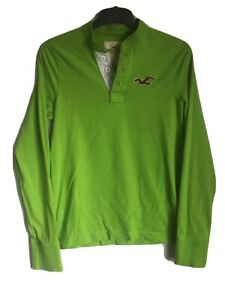 Hollister-Mens-Light-Green-Cotton-Long-Sleeve-T-Shirt-L-C175