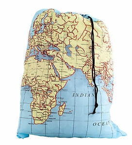 Kikkerland travel world map washable laundry bag 100 polyester kikkerland travel world map washable laundry bag 100 polyester lb06mp 66pounds gumiabroncs Images