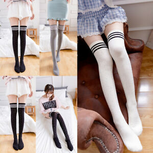 b1c10170e Image is loading Women-Sexy-Glitter-Rhinestone-Over-Knee-Long-Socks-