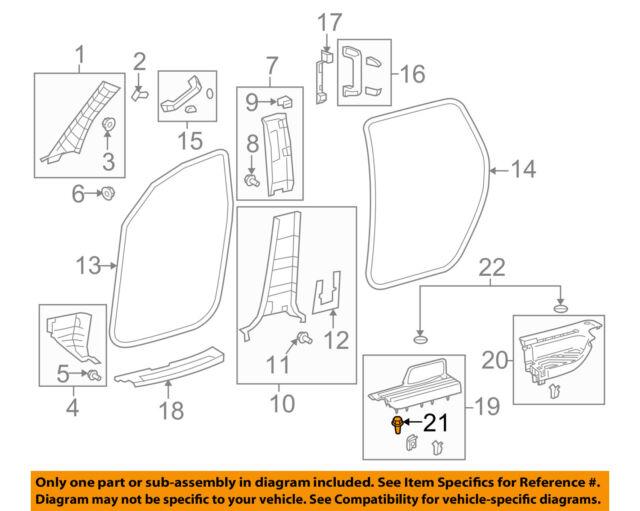 Genuine Toyota Quarter Trim Panel Retainer Clip 90467-10161