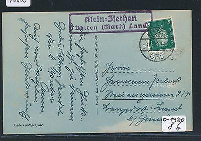 mark Land Ak 1930 Gut FüR Energie Und Die Milz Selbstlos 90303 Dr > Ddr Landpost Ra2 Klein-ziethen Velten