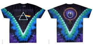 OFFICIAL-LICENSED-PINK-FLOYD-DARK-SIDE-VDYE-TIE-DYE-T-SHIRT-ROCK-GILMORE
