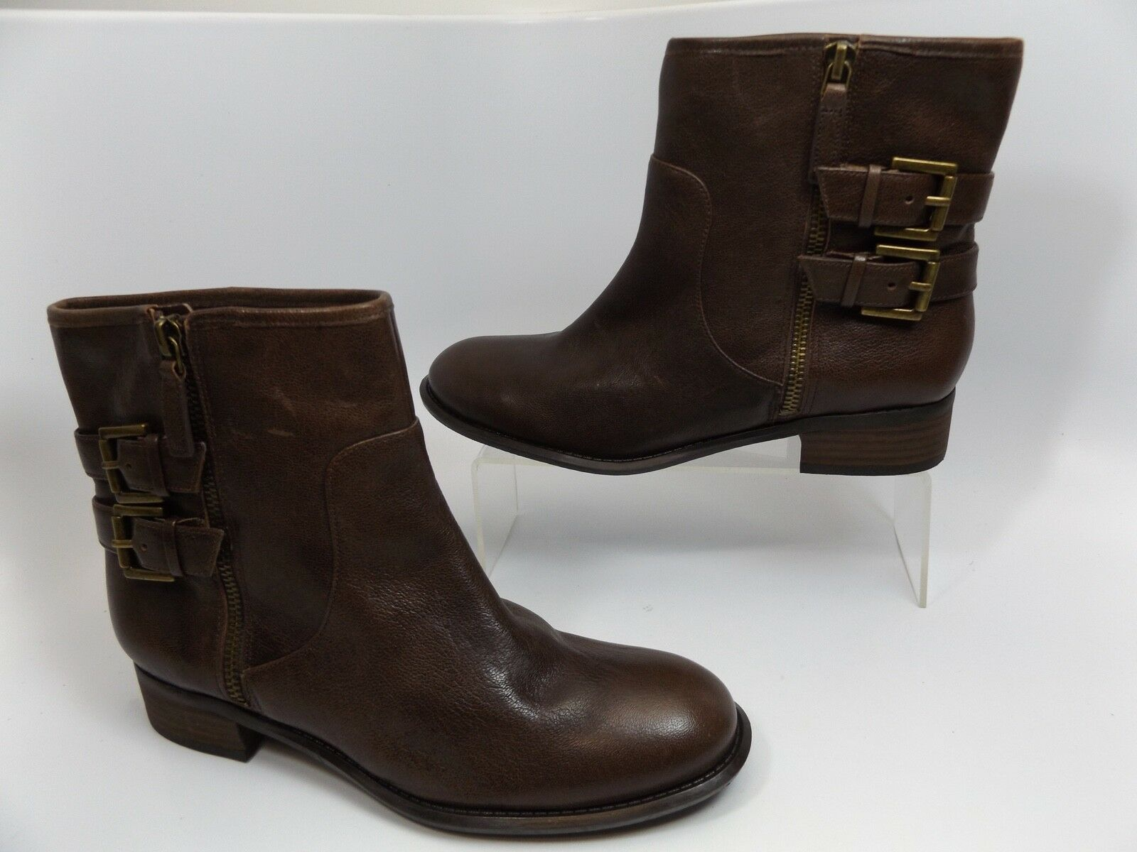 Nine West Women's Justthis Leather Boot Brown SZ SZ SZ 7.0 M NEW DISPLAY D8827 ce34d8