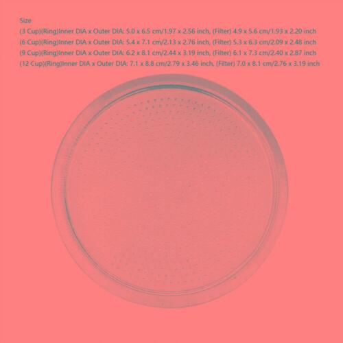 Silicagel Dichtung Set for Moka Pot 3//6//9// Wiederverwendbar Edelstahl Filter