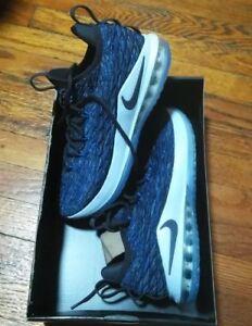 Nike LeBron 15 Low Basketball Shoes Signal Blue Thunder Gray AO1755 ... a1bacad2d