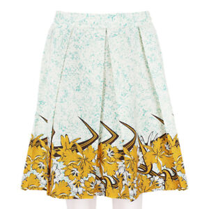 Proenza-Schouler-Cream-Marbled-Floral-Pattern-Pleated-Skirt-US4-UK8