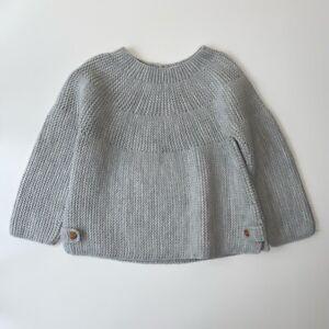 Zara Baby Girls 18-24 Months Light Grey Chunky Knit Jumper ...
