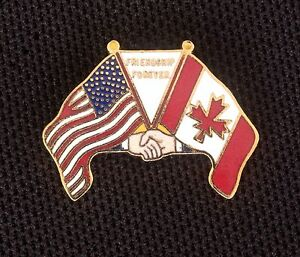 Image Is Loading CANADA AND USA FRIENDSHIP FOREVER LAPEL HAT TIE