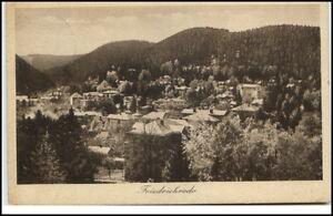 Friedrichroda-Thueringen-Postkarte-1928-gelaufen-Panorama-Gesamtansicht-Wald