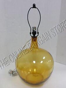 pottery barn clift hand blown glass jug amber table desk. Black Bedroom Furniture Sets. Home Design Ideas